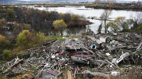 Последствия наводнения в Тулуне