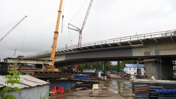 Строительство Карамышевского моста