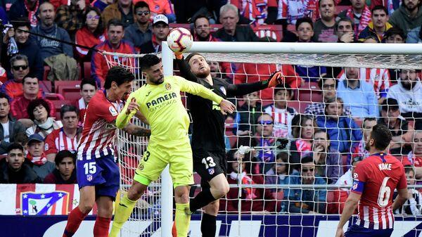 Игровой момент матча Атлетико - Вильярреал