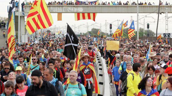 Всеобщая забастовка в Каталонии. 18 октября 2019