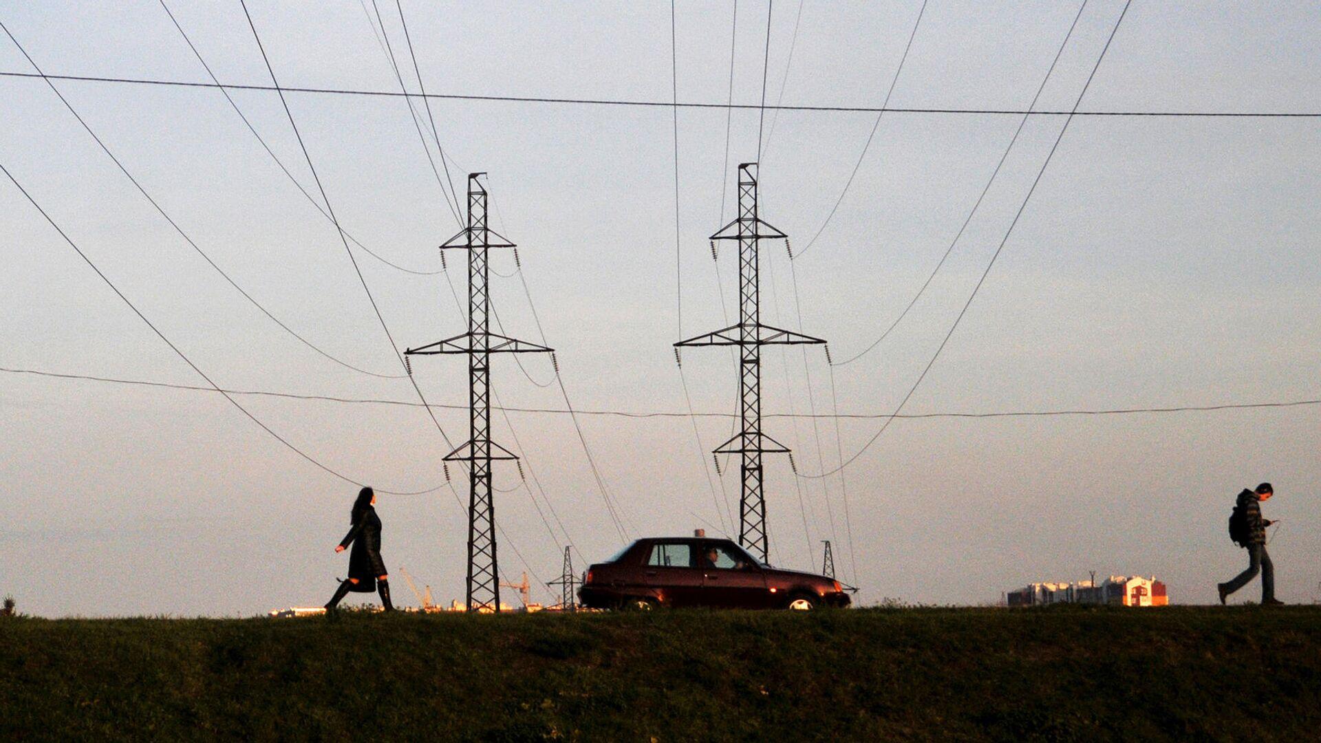 Линии электропередачи во Львовской области - РИА Новости, 1920, 22.11.2020
