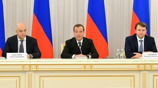 Председатель правительства РФ Дмитрий Медведев проводит заседание Консультативного совета по иностранным инвестициям в Российской Федерации