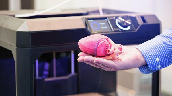 Сердце напечатанное на 3D-принтере