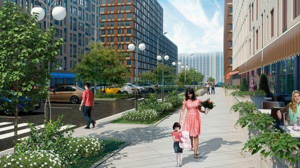Проект планировки квартала в московском районе Люблино