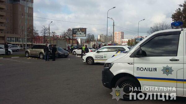 Место перестрелки в Харькове