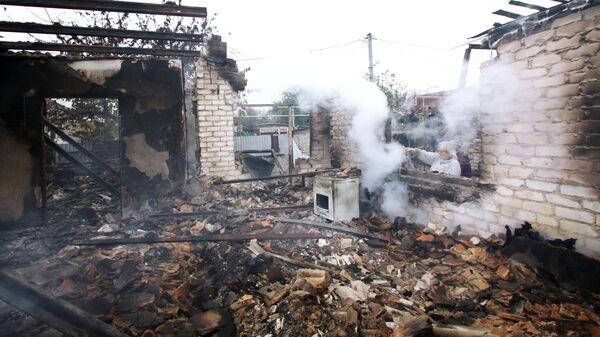 Дом на окраине Петровского района Донецка