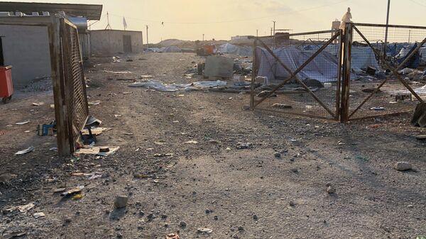 Брошенный лагерь беженцев Айн-Исса на севере провинции Ракка