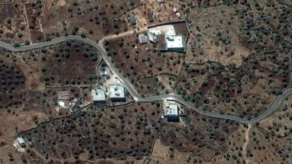 Вид на резиденцию  лидера ИГ* (запрещена в РФ) аль-Багдади со спутника