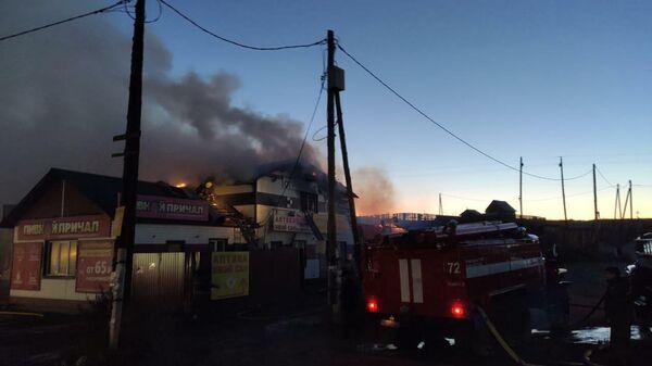 Пожар в двухэтажном административном здании в Бурятии