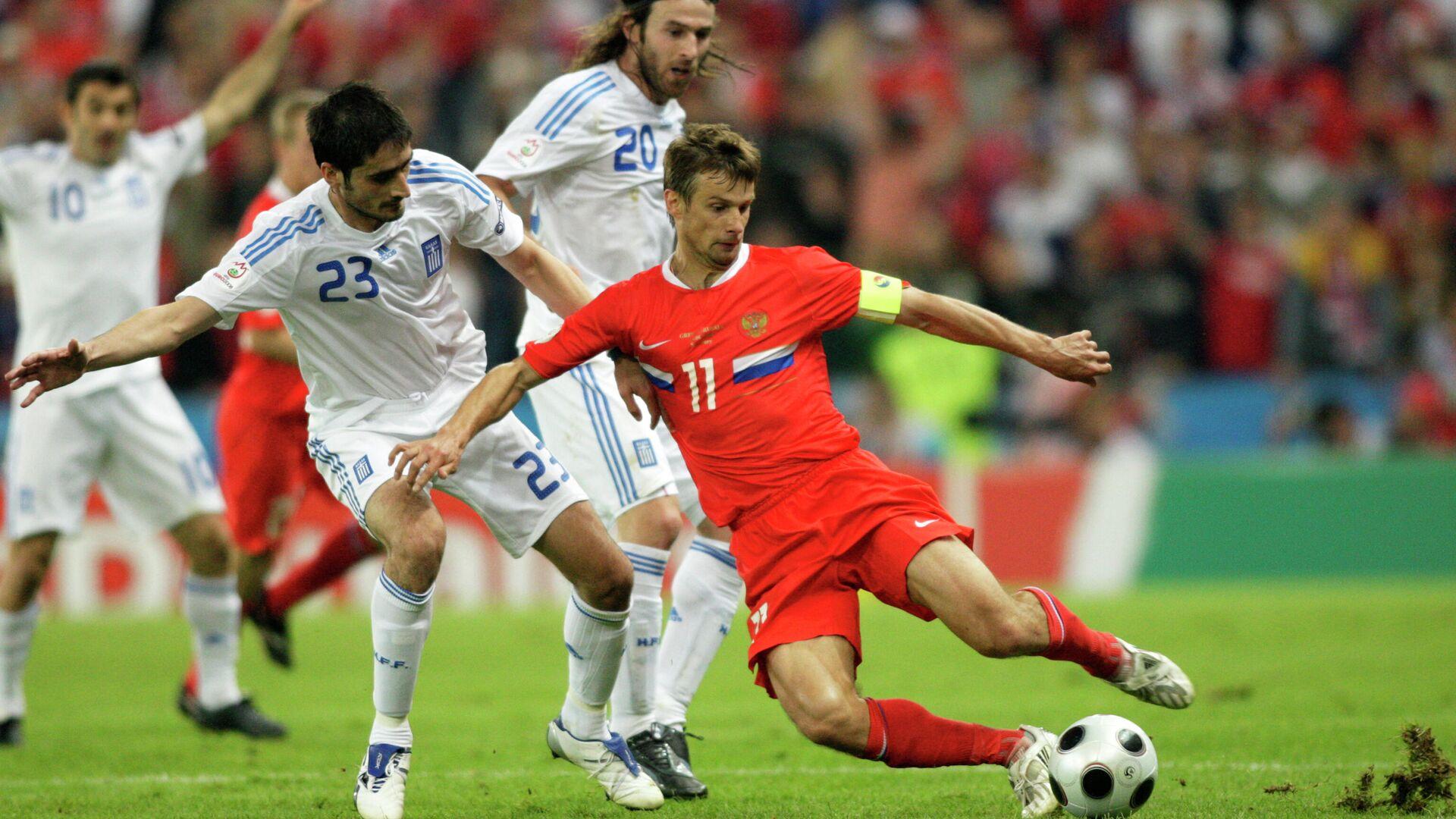 Игровой момент матча Россия - Греция на ЕВРО-2008 - РИА Новости, 1920, 20.08.2020
