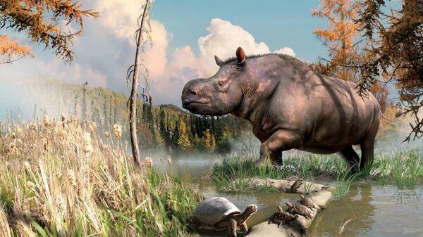 Так в представлении художника выглядели животные, обитавший в миоценовое время на территории Юкона
