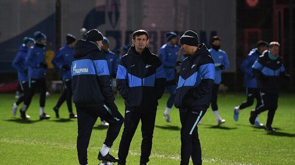 Тренеры Зенита Анатолий Тимощук, Сергей Семак и Андреа Сканавино (слева направо)
