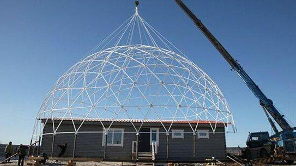 В рамках эксперимента якутская семья проживет под энергосберегающим куполом