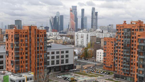 Вид на небоскребы Москва-сити