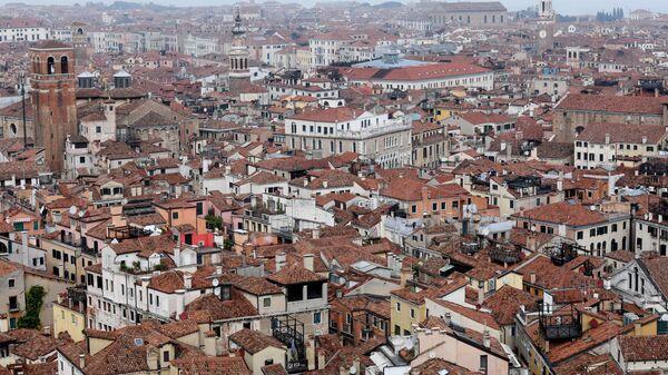 Вид на Венецию с кампанилы собора Святого Марка