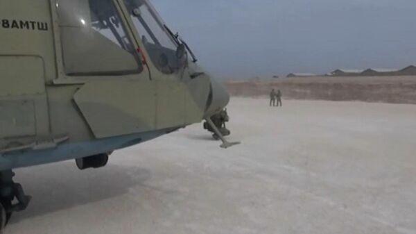 Высадка десанта на брошенном американцами аэродроме в Сирии