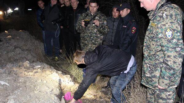 На месте сокрытия тела девочки в Раздольненском районе Республики Крым
