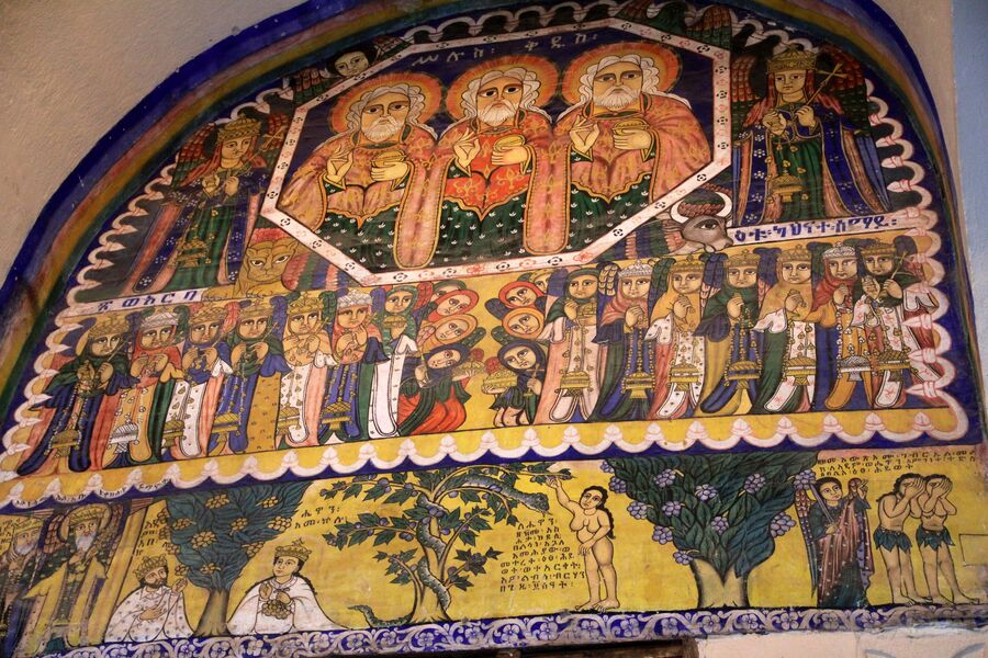 Икона в храме Девы Марии Сионской в Аксуме