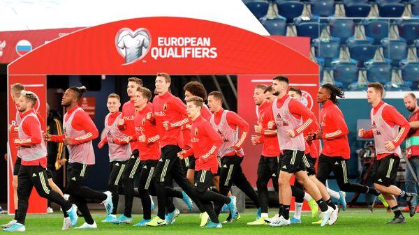 Футбол. Тренировка сборной Бельгии