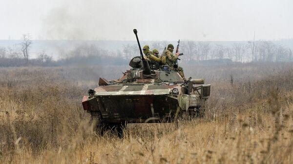 Военнослужащие ВСУ в Донбассе