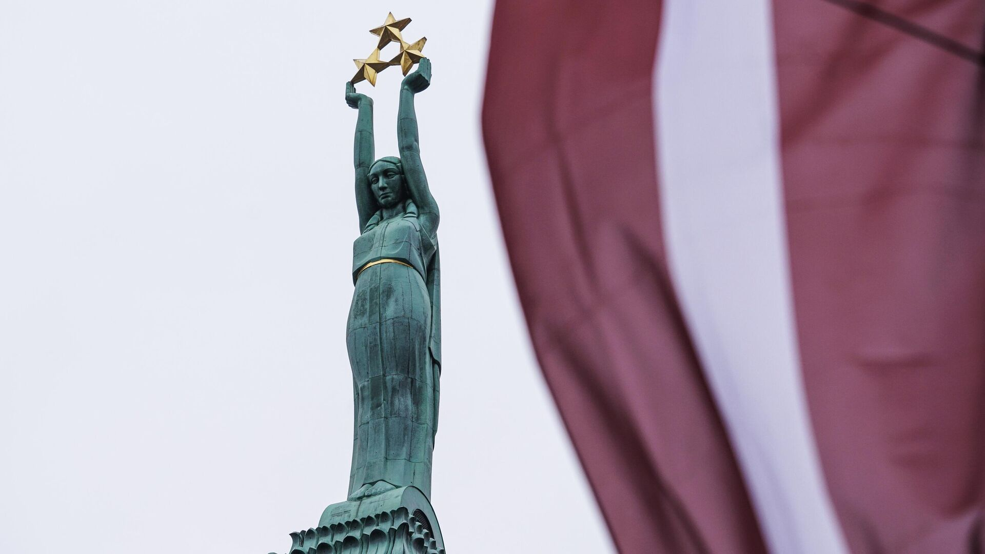 Памятник Свободы в Риге  - РИА Новости, 1920, 08.02.2021