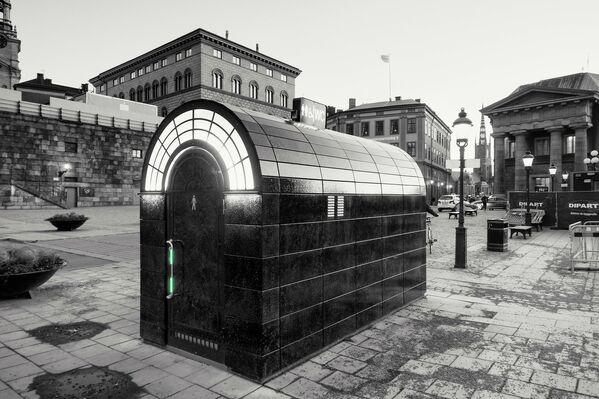 Общественный туалет на улице Стокгольма