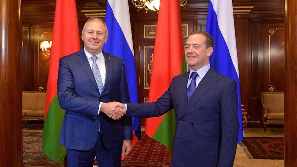 Дмитрий Медведев и Сергей Румас