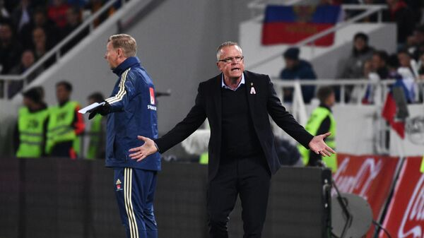 Главный тренер сборной Швеции Янне Андерссоноссия - Швеция