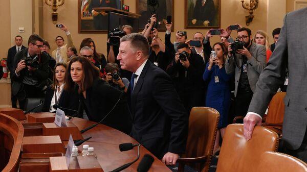 Бывший спецпредставитель США по Украине Курт Волкер на слушаниях Палаты представителей по импичменту против Дональда Трампа. 19 ноября 2019