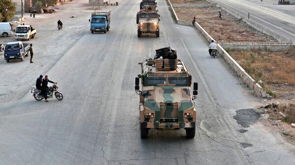 Турецкие военные на севере Сирии