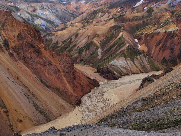Цветные горы Ландманналаугар, Исландия