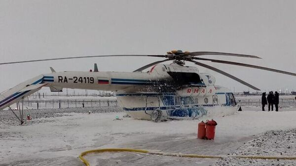 Жесткая посадка вертолета Ми-8 на Ямале