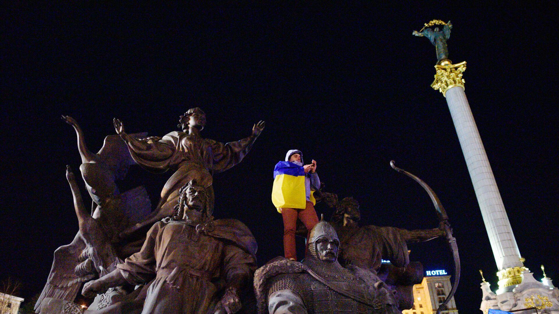 Митинг в Киеве в честь годовщины событий на Майдане - РИА Новости, 1920, 21.01.2021