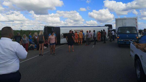 Автобус с российскими туристами, попавший в ДТП в Доминикане