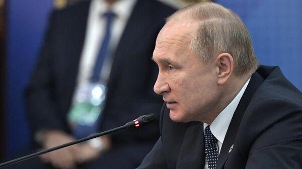 Президент РФ Владимир Путин на заседании Совета коллективной безопасности ОДКБ в Бишкеке