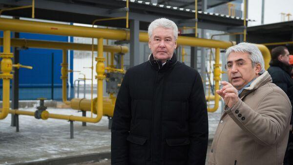 Мэр Москвы С. Собянин осмотрел реконструированный газорегуляторный пункт