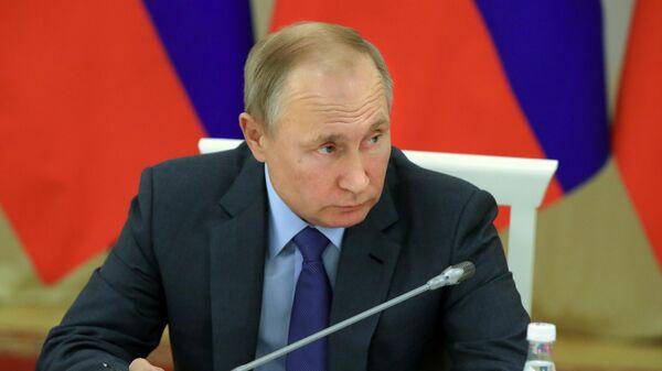 Президент РФ Владимир Путин проводит в Нальчике заседание Совета при президенте РФ по межнациональным отношениям