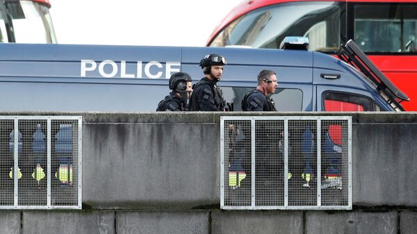 Полицейские на месте инцидента на Лондонском мосту