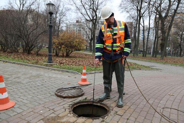 Плановое обследование водосточных сетей Москвы