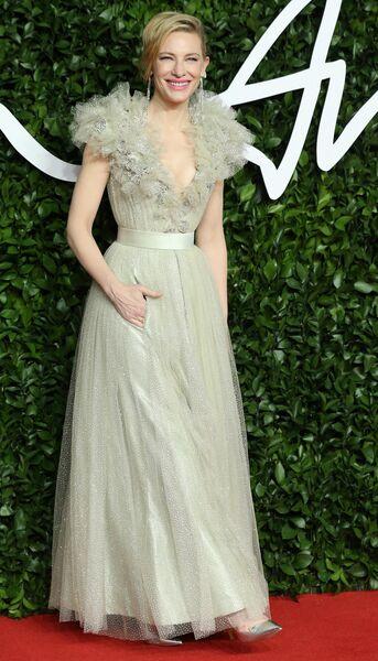 Актриса Кейт Бланшетт на церемонии вручения премии British Fashion Awards 2019