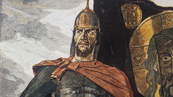 Репродукция картины Александр Невский. Центральная часть триптиха