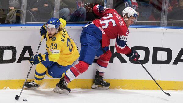 Форвард сборной Швеции по хоккею Марио Кемпе