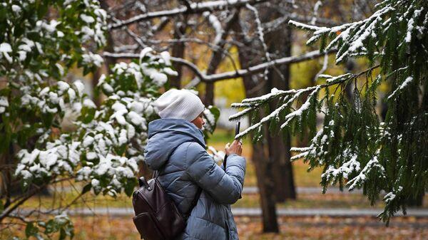 Первый снег в Новосибирске