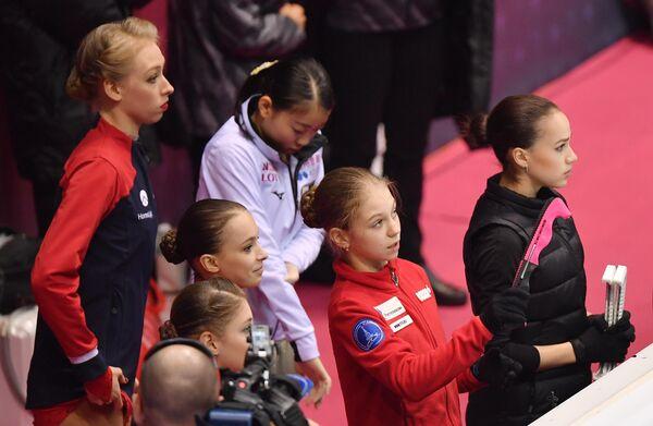 Участницы женского финала Гран-при