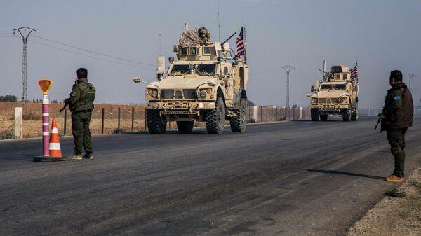 Военный конвой США в Сирии
