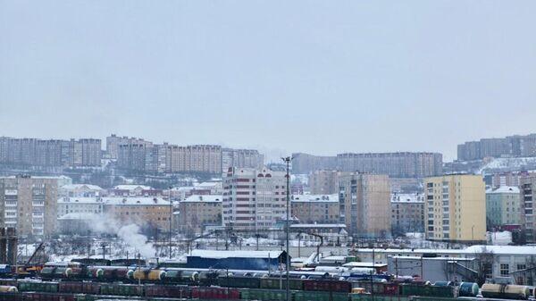 Вид на Мурманск со стороны