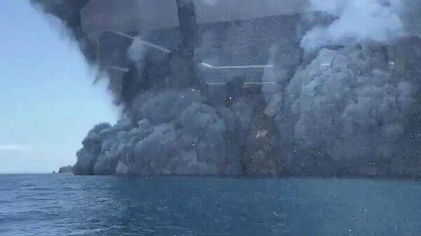 Извержение вулкана на острове Уайт-Айленд в Новой Зеландии. 9 декабря 2019