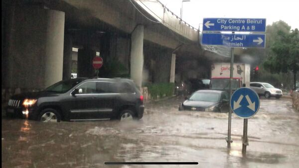Проливные дожди в Бейруте