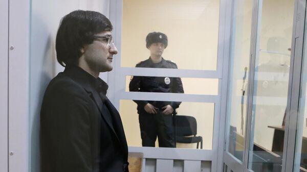Бывший первый заместитель главы компании Росгеология Руслан Горринг в зале 235-го гарнизонного  военного суда