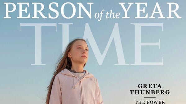 Обложка журнала Time с шведской экоактивисткой Гретой Тунберг